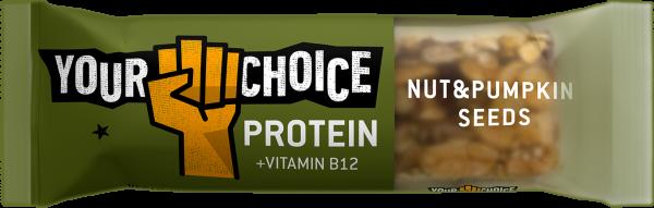 Proteínová tyčinka s orechmi a tekvicovými semiačkami, 33g